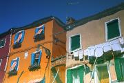 Featured Art - Reflections In Water Of Burano, Italy by Chris Upton