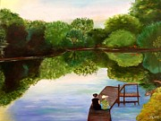 Arkansas Paintings - Reflections by Janis  Tafoya