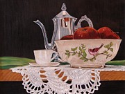 Teapot Drawings - Reflections by Lea Sutton