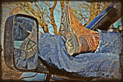 Kayecee Spain Acrylic Prints - Reflections of a Cowboys Nap Acrylic Print by KayeCee Spain