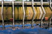 Spillways Prints - Reflections of Barton Dam Print by Jim Vansant