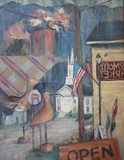 Store Window Display Paintings - Reflections of Colden by Linda Hall