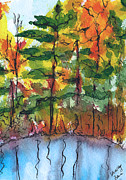 Reflections Of Fall Print by Shelley Bain