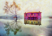 Vacations Drawings Prints - Reflections of illusions Print by George Rossidis