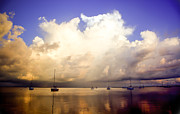 Boats On Water Posters - REFLECTIONS of KEY LARGO Poster by Karen Wiles