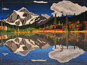 Reflections Tapestries - Textiles - Reflections of Mt.Shuksan by Jo Baner