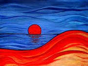 Sunrise Over Water Paintings - Reflections Of Southern Australia by Kathleen Peltomaa Lewis