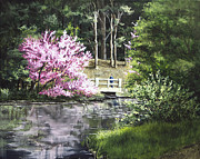 30 X 24 Prints - Reflections of Spring Print by Mary Palmer