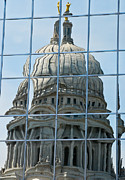 Dignified Prints - Reflections of the Capitol Print by Christi Kraft