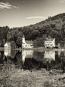 Adirondacks Region - Reflections of the Day Black and White by Joshua House