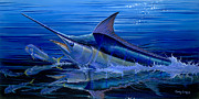 Striped Marlin Framed Prints - Reflections Off0058 Framed Print by Carey Chen