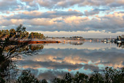Lynn Jordan Art - Reflections on Oyster Bay by Lynn Jordan