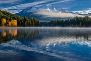 Cascades Prints - Reflections on Siskiyou Lake Print by Greg Nyquist