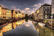 Belgium Photos - Reflections over Ghent by Rob Hawkins