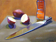 Vinegar Painting Framed Prints - Reflective and Organic 1 Framed Print by JJ Long