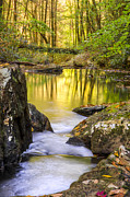 Rock Spring Trail Prints - Reflective Pools Print by Debra and Dave Vanderlaan