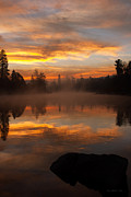 Spokane River Prints - Reflective Sunrise Print by Reflective Moments  Photography and Digital Art Images