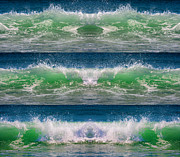 Topsail Island Photos - Reflective Wave Sequence by Betsy A Cutler East Coast Barrier Islands