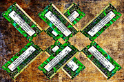 Dimm Prints - Refresh My Memory - Computer Memory Cards - Electronics - Abstract Print by Andee Photography