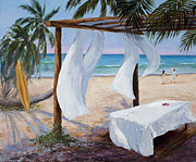 Coconut Trees Paintings - Refreshed by Mary Giacomini