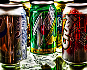 Cans Digital Art Prints - Refreshing Print by Camille Lopez