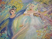 Ballet Dancers Paintings - Refreshing changement by Judith Desrosiers