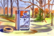 Small Town Paintings - Refreshment Along Lifes Way by Kip DeVore