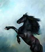 Horse Drawing Posters - Regaining Strength Poster by Tamer Elsharouni