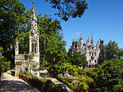 Sintra Acrylic Prints - Regaleira Palace the Chapel and Gardens Acrylic Print by Lusoimages  