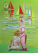 Toy Boat Paintings - Regatta by Charles Stuart