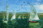 Sky Lovers Art Prints - Regatta Day Print by Julie Lueders