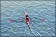 Rower Digital Art Prints - Regatta Girl Print by Bill Cannon
