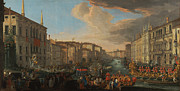 Famous Artists - Regatta on the Grand Canal in Honor of Frederick IV King of Denmark by Luca Carlevarijs