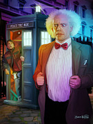 Dr. Who Digital Art Framed Prints - Regeneration Framed Print by Brett Hardin