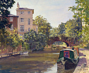 Moored Paintings - Regent s Park Canal by Julian Barrow