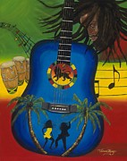 Jamaican Music Paintings - Reggae Fest by Viveca Mays