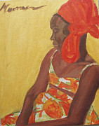 Impressionism Acrylic Prints Art - Reggae Model by Esther Newman-Cohen