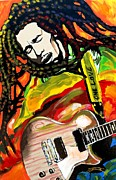 Jamaica Mixed Media Posters - Reggae Music Poster by Jonathan Tyson