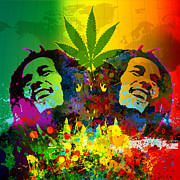 Pop Music Digital Art Prints - Reggae POP Print by Gary Grayson