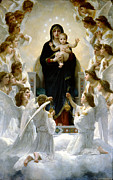 Christ Child Digital Art Prints - Regina Angelorum Print by William Bouguereau