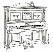 Regina Player Piano Print by Ira Shander