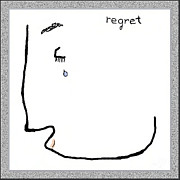 Apology Framed Prints - Regret Framed Print by Mathilde Vhargon