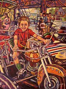 Rides Painting Originals - Rehoboth Beach Rides by Kendall Kessler