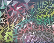 Raining Paintings - Reigning Triangles by Kerry  Bennett