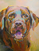 Labrador Retriever Painting Framed Prints - Reilly Framed Print by Kimberly Santini