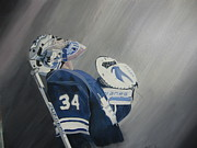 Goalie Paintings - Reimer by Clifford Knoll