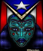 Puerto Rico Digital Art Prints - Reina Print by Maestro Ruiz