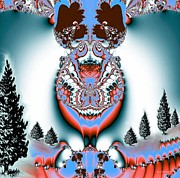 Reindeer Blues Print by Maria Urso