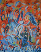 Featured Tapestries - Textiles Metal Prints - Rejoice Metal Print by Aisha Lumumba