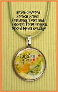 Bible Jewelry - Rejoice Always Pendant by Carla Parris